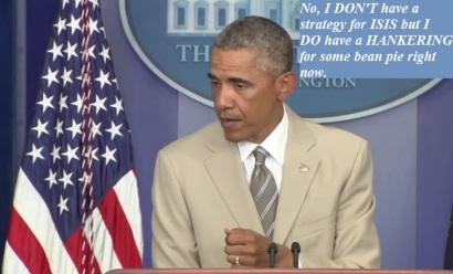 Barack Obama no strategy ISIS bean pie
