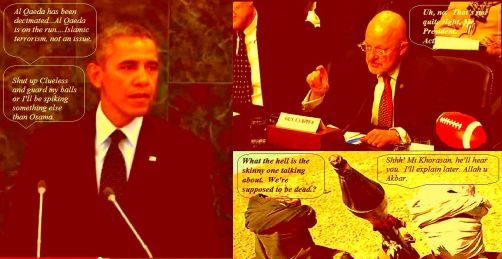 BeFunky_Underpainting_242 Barack Obama James  Clapper Al Qaeda is dead
