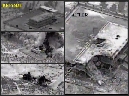 Obama Syria NOT OS SERIOUS Airstrikes 09232014 BEFORE AND AFTER