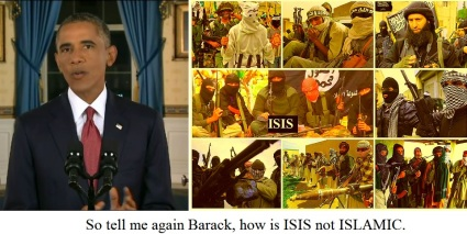 screenshot tell me obama how isis is not islamic