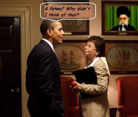 Barack Obama Valerie Jarrett West Wing corridor Mullah Fatwa