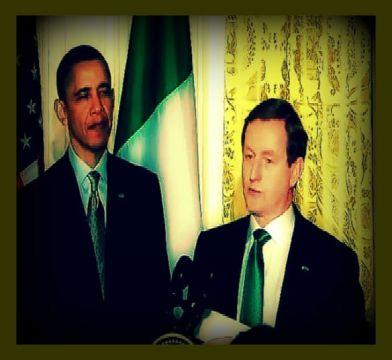 Barack Obama and Ireland Prime Minister Enda Kenny March 2011 (screenshot)