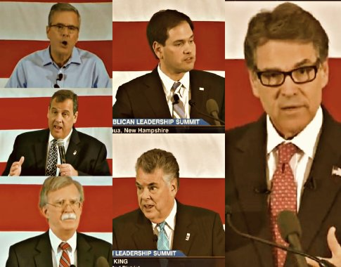 Republican Leadership Summit 2015, Day One Jeb Bush, Chris Christie, John Bolton, Marco Rubio,  Peter King  and Rick Perry