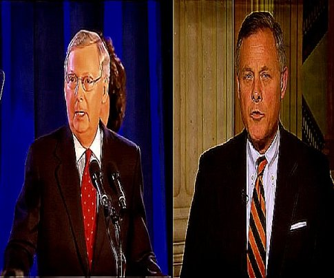 screenshot senate majority leader mitch mcconnell and Intelligence Committee Chair Senator Richard Burr