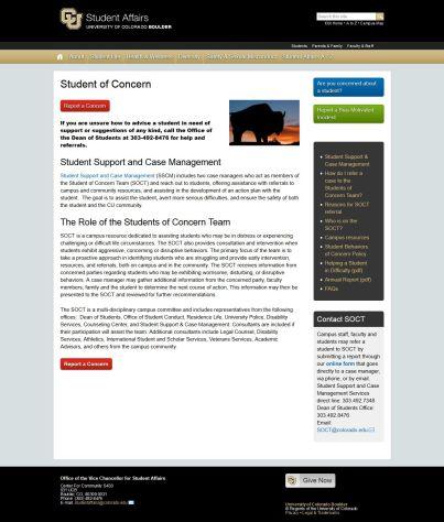SCREENSHOT 'Bias Incident Reporting I StudentofConcern- www_colorado_edu_studentconcernteam