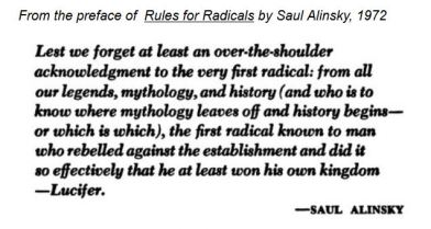 screenshot Preface Saul Alinsky's Rules for Radicals