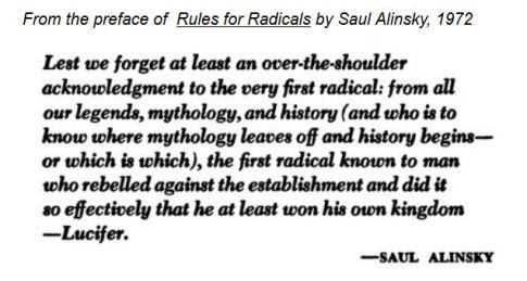 screenshot Preface Saul Alinsky's Rules for Radicals