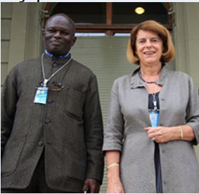 Doudou Diene  of Senegal and Mary McGowan Davis, USA Commissioners -The United Nations Independent Commission of Inquiry on the 2014 Gaza Conflict