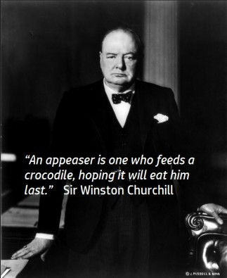 Appeaser Quote Winston Churchill image courtesy of Wikimedia Commons public domain