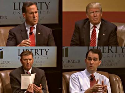 SantorumTrumpVanderPlaatsWalkerfamilyleadershipsummit2015_Fotor_Collage