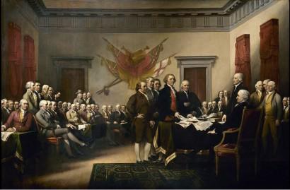 screenshot john trumbull's declaration of independence wikipedia public domain