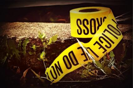 BE FUNKY POLICE CRIME SCENE TAPE wikimediacommons