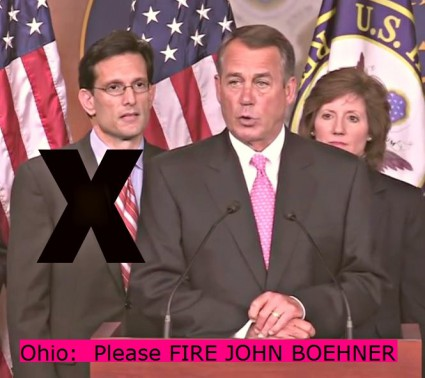 Ohio Please fire JOHN BOEHNER