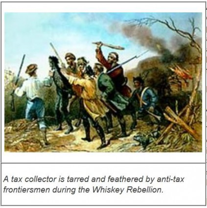 tax collector tarred and feather American Whiskey Rebellion 1791 - 1794 Source ttb dot gov