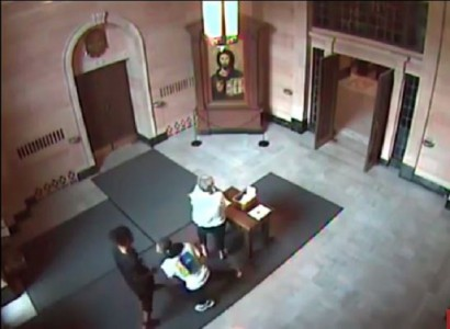 Two Black Teen Thugs Snatch, Punch 76 year old woman in Nebraska Church just before Sunday mass