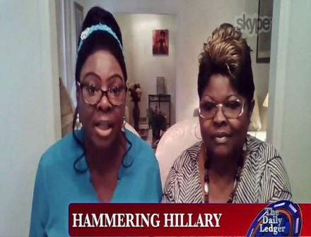 BE FUNKY screenshot the viewers' view diamond and silk on the Daily Ledger hammer hillary
