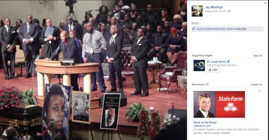 Joseph Thomas Johnson-Shanks aka Jay MileHigh Missouri Michael Brown's funeral Facebook 005