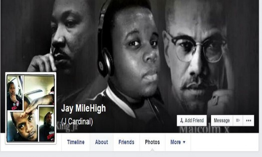 Joseph Thomas Johnson-Shanks aka Jay MileHigh Missouri supporter of Black Lives Matter and Michael Brown Facebook 002