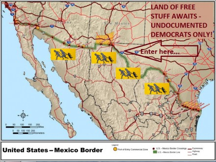 LAND OF FREE STUFF u s mexico border map wikimedia commons
