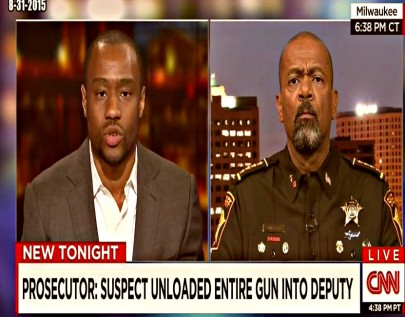 screenshot Marc Lamont Hill v Sheriff David Clarke on Black Lives Matter 08312015