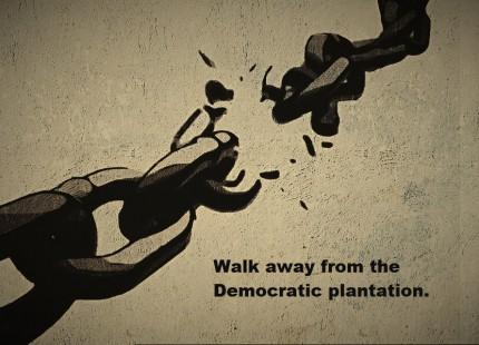Walk away from the Democratic plantation - brokenchainspixabaypublicdomain_Fotor