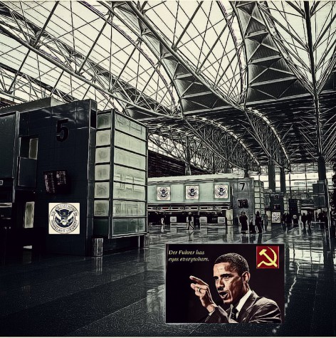 BE FUNKY San Francisco Airport Homeland Security Communism Obama der fuhrer