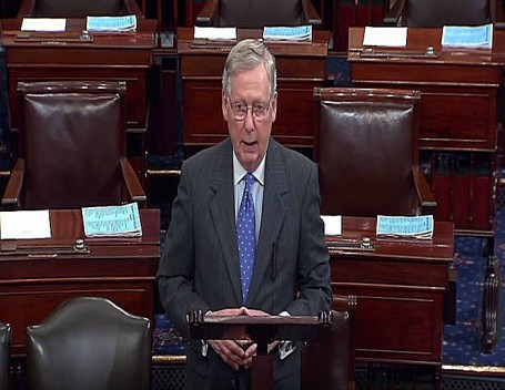 Mitch McConnell Effective Democratic Leader speaks on House floor re Bipartisan budget act of 2015