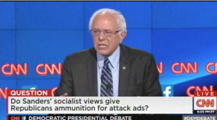 screenshot bernie sanders cnn debate