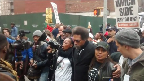 screenshot black lives matter protest nyc 10242015 cornel west