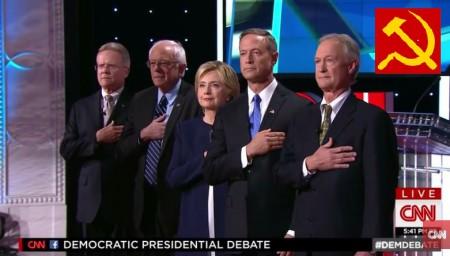 screenshot cnn democratic party debate 003