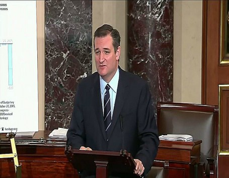 screenshot senator ted cruz calling out Mitch McConnell on the Bipartisan Budget Act of 2015  002