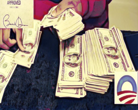 BEFUNKY Barack Obama bailing out insurance companies