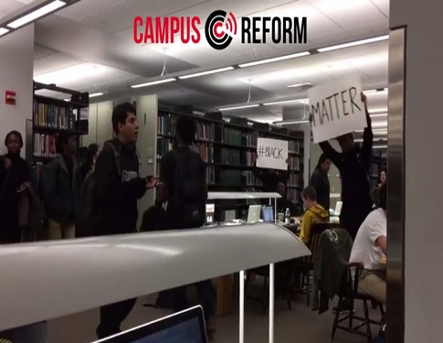 blm commandeer dartmouth library attacking students