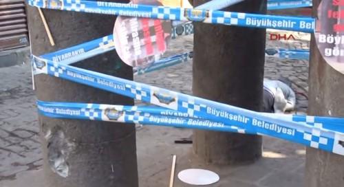Tahir Elçi, Chairman of Diyarbakır Bar Association shot and killed by PKK terrorists (screenshot)