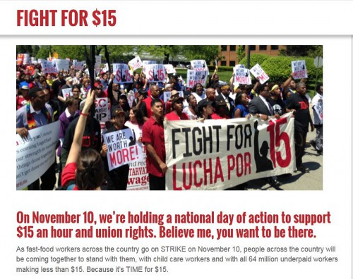 screenshot fight for 15 an hour protest november 10 2015