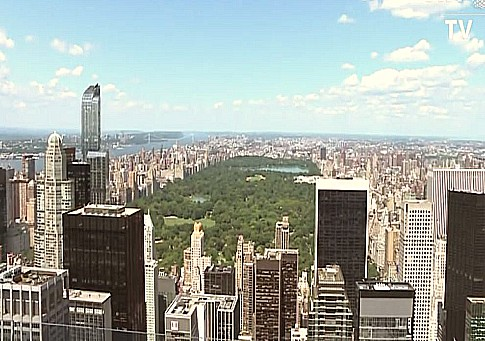 screenshot nyc skyline 2015 from observation deck of new wtc