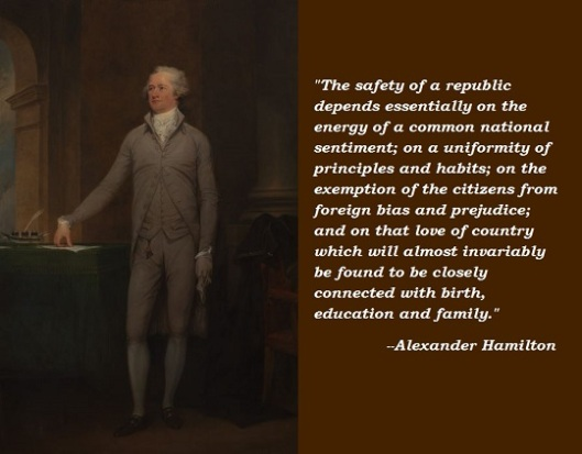 alexander hamilton by John Trumbull 1792 wikimedia commons Quote on Mass Immigration 540 x 422