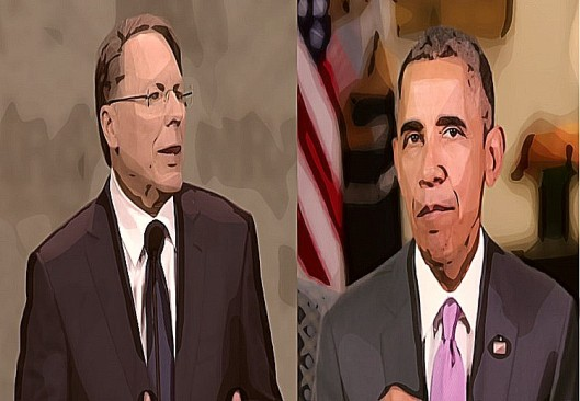 BEFUNKY screenshot wayne lapierre nra barack obama