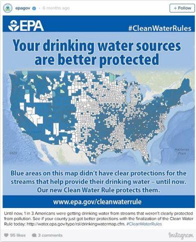 epa water rule propaganda instagram