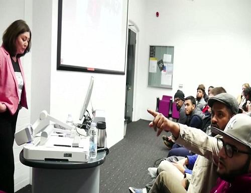 screenshot ex Muslim Maryam Namazie interrupted by Islamict thugs at Goldsmiths University London 002