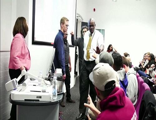 screenshot ex Muslim Maryam Namazie interrupted by Islamict thugs at Goldsmiths University London 003