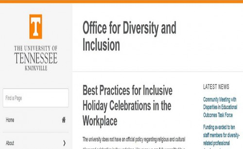 university of tennessee diversity and inclusion on Christmas parties and sensitivities 560 x 344