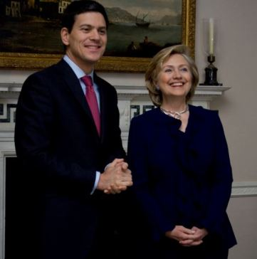 David Miliband, the former British Foreign Secretary (bff Hillary) is changing America by changing the people as CEO of the financially largest US refugee resettlement contractor. He wants 100,000 Syrians in here by the end of Obama's term. Photo: US Embassy London -- Flickr (CC BY-ND 2.0) .
