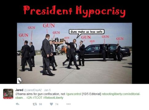 Obama hypocrisy gun control