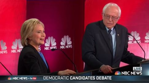 screenshot hillary clinton bernie sanders nbc debate 1172016