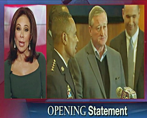screenshot justice jeanine pirro opening statement re shooting by lone wolf jihadist of officer hartnet in philadelphia_Fotor