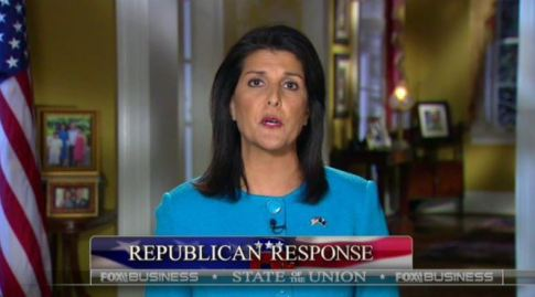 screenshot Nikki Haley response to Obama 2016 SOTU
