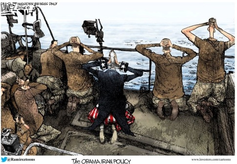 The Obama Iran Policy by Michael Ramirez, investors dot com