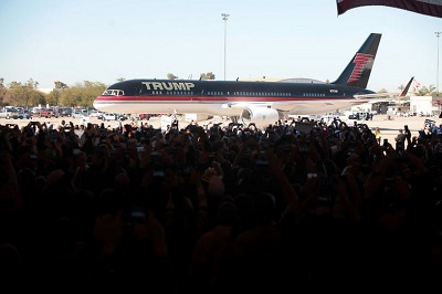 Donald Trump plane - photo by Gage Skidmore, Flickr creative commons