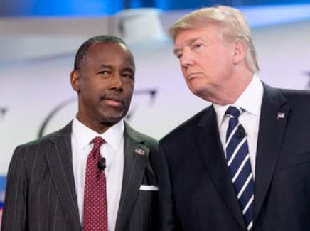 Former GOP presidential candidate Dr. Ben Carson and Republican front-runner Donald Trump (Photo: Twitter)